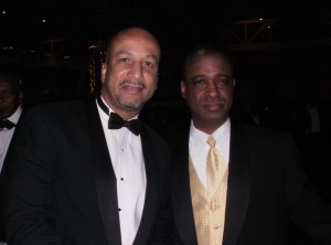 Mayor Ray Nagin and Michael Woods at the Zulu Ball