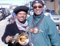 Kermit Ruffin and Michael Woods at the Zulu Parade in Treme